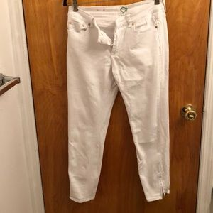 C wonder cropped white jeans